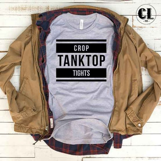 T-Shirt Crop Tanktop Tights by Clotee.com Tumblr Aesthetic Clothing