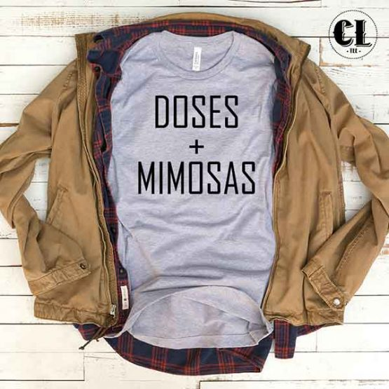 T-Shirt Doses + Mimosas by Clotee.com Tumblr Aesthetic Clothing