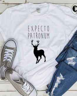 T-Shirt Expecto Patronum men women round neck tee. Printed and delivered from USA or UK