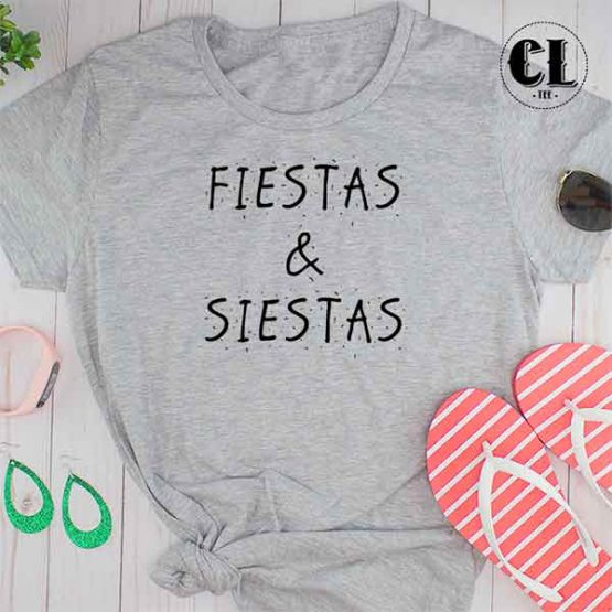 T-Shirt Fiestas and Siestas by Clotee.com Tumblr Aesthetic Clothing