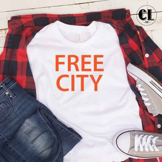 T-Shirt Free City by Clotee.com Tumblr Aesthetic Clothing