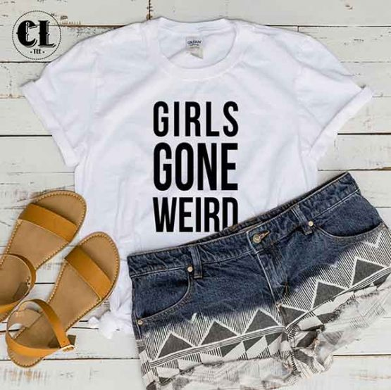 T-Shirt Girls Gone Weird by Clotee.com Tumblr Aesthetic Clothing
