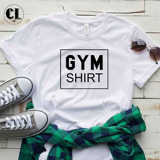 T-Shirt Gym Shirt men women round neck tee. Printed and delivered from USA or UK