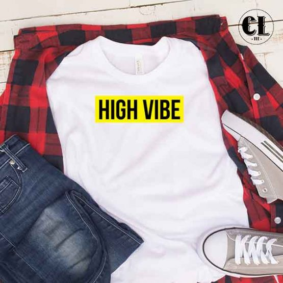 T-Shirt High Vibe by Clotee.com Tumblr Aesthetic Clothing
