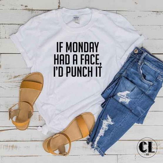 T-Shirt If Monday Had A Face by Clotee.com Tumblr Aesthetic Clothing