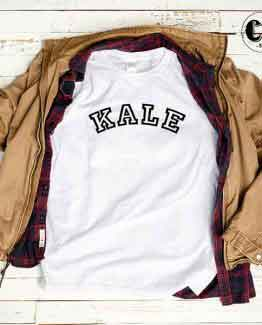 T-Shirt KALE men women round neck tee. Printed and delivered from USA or UK
