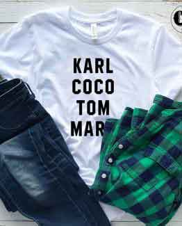 T-Shirt Karl Coco Tom Marc men women round neck tee. Printed and delivered from USA or UK