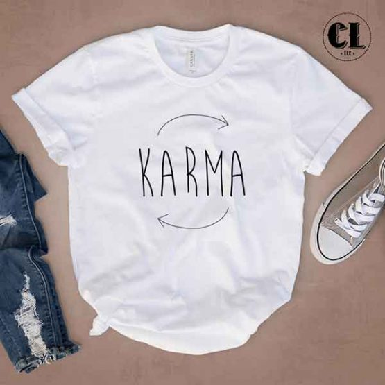 T-Shirt Karma by Clotee.com Tumblr Aesthetic Clothing