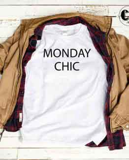 T-Shirt Monday Chic by Clotee.com Tumblr Aesthetic Clothing