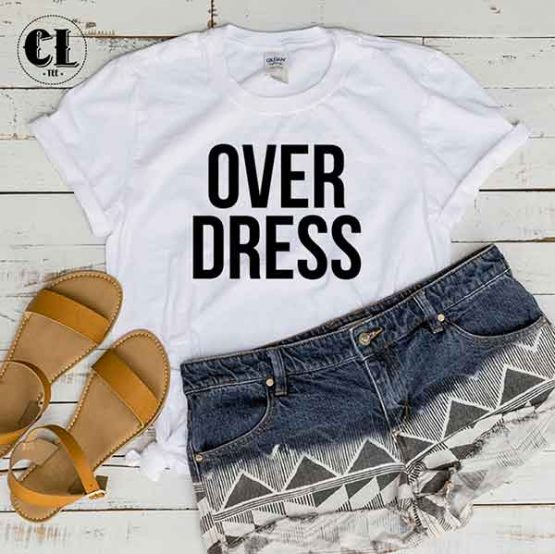 T-Shirt Over Dress by Clotee.com Tumblr Aesthetic Clothing