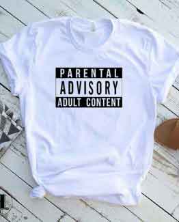 T-Shirt Parental Advisory Adult Content by Clotee.com Tumblr Aesthetic Clothing