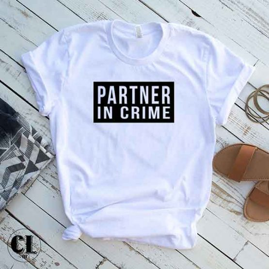 T-Shirt Partner In Crime by Clotee.com Tumblr Aesthetic Clothing