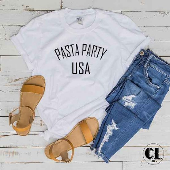 T-Shirt Pasta Party USA by Clotee.com Tumblr Aesthetic Clothing