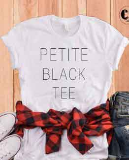 T-Shirt Petite Black Tee by Clotee.com Tumblr Aesthetic Clothing