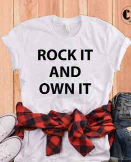 T-Shirt Rock and Own It by Clotee.com Tumblr Aesthetic Clothing