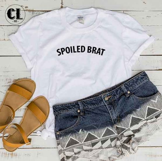 T-Shirt Spoiled Brat men women round neck tee. Printed and delivered from USA or UK