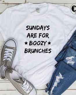 T-Shirt Sundays Are For Boozy Brunches by Clotee.com Tumblr Aesthetic Clothing