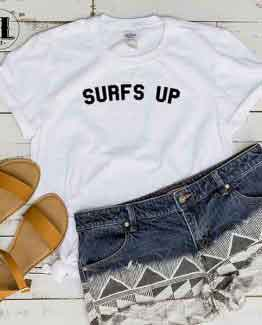 T-Shirt Surfs Up by Clotee.com Tumblr Aesthetic Clothing
