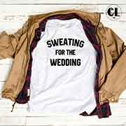 T-Shirt Sweating For The Wedding