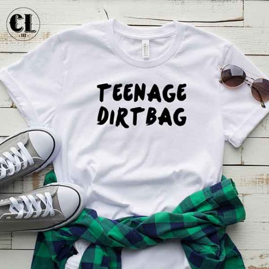 T-Shirt Teenage Dirtbag men women round neck tee. Printed and delivered from USA or UK