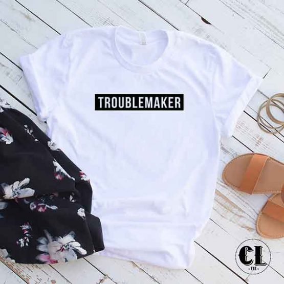 T-Shirt Troublemaker by Clotee.com Tumblr Aesthetic Clothing
