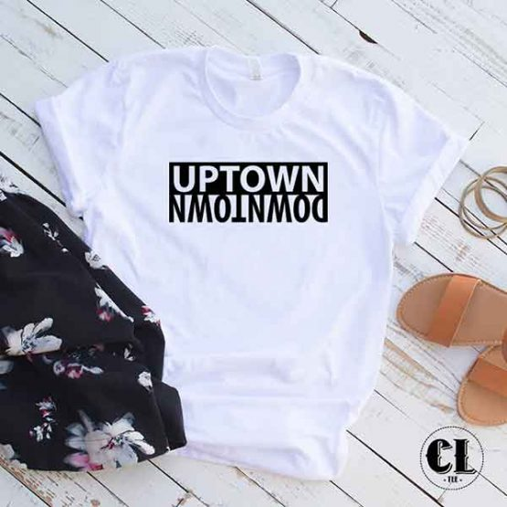 T-Shirt Uptown Downtown by Clotee.com Tumblr Aesthetic Clothing