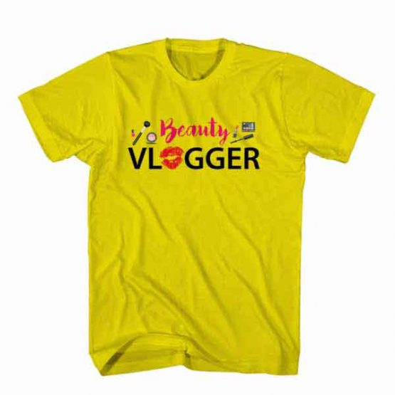 T-Shirt Beauty Vlogger, Youtuber T-Shirt men women youtuber influencer tee. Printed and delivered from USA or UK.