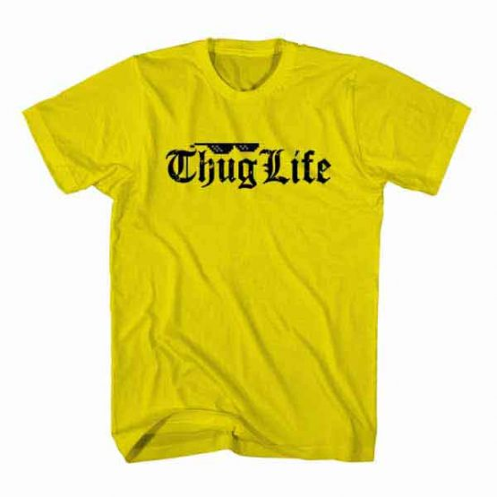 T-Shirt Thug Life, Youtuber T-Shirt Youtuber Influencer men women round neck tee. Printed and delivered from USA or UK.