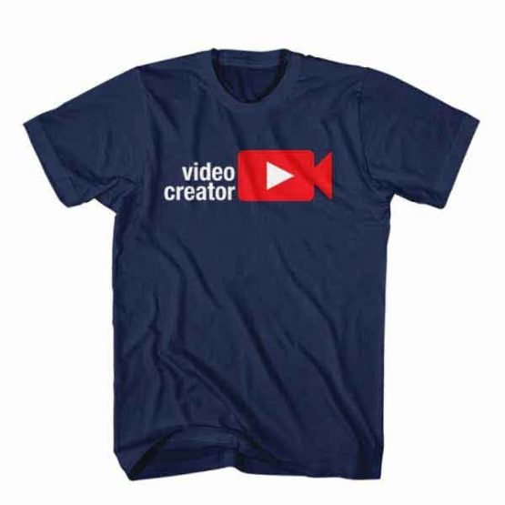 T-Shirt Video Creator, Youtuber T-Shirt men women youtuber influencer tee. Printed and delivered from USA or UK.