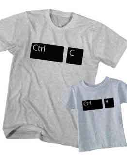 Dad and Son T-Shirt Ctrl C Copy Ctrl V Paste by Clotee.com Father and Son Matching Tee Shirt Set