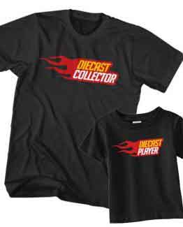 Dad and Son T-Shirt Diecast Collector Diecast Player by Clotee.com Father and Son Matching Tee Shirt Set
