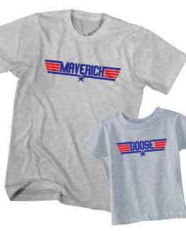 Dad and Son T-Shirt Maverick Goose by Clotee.com Father and Son Matching Tee Shirt Set
