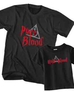 Dad and Son T-Shirt Pure Blood Half Blood