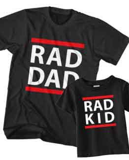 Dad and Son T-Shirt Rad Dad Rad Kid by Clotee.com Father and Son Matching Tee Shirt Set