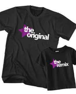 Dad and Son T-Shirt The Original The Remix by Clotee.com Father and Son Matching Tee Shirt Set