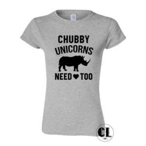 Chubby Unicorns Need Love Too T-Shirt