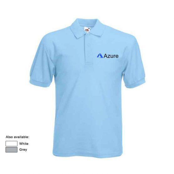 azure polo shirt