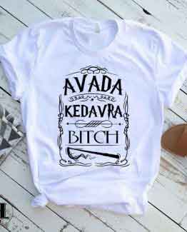 T-Shirt Avada Kedavra men women round neck tee. Printed and delivered from USA or UK.
