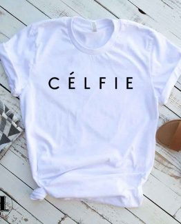 T-Shirt Celfie men women round neck tee. Printed and delivered from USA or UK.