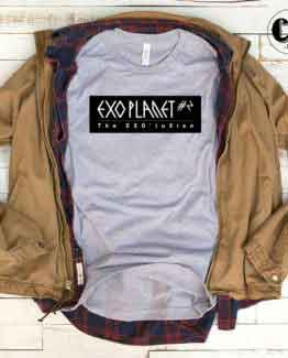 T-Shirt Exo Planet men women round neck tee. Printed and delivered from USA or UK.