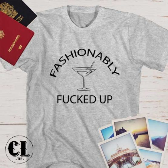 T-Shirt Fashionable Fuck Up men women round neck tee. Printed and delivered from USA or UK.