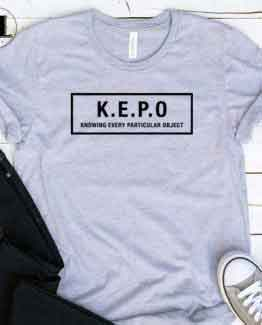 T-Shirt Kepo men women round neck tee. Printed and delivered from USA or UK.