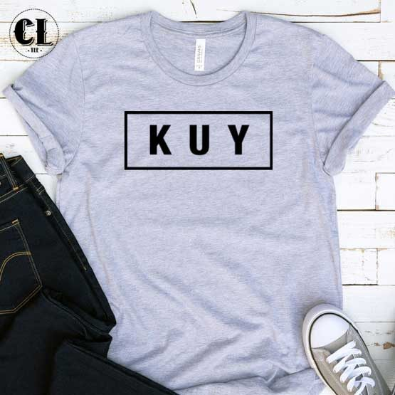 T-Shirt KUY men women round neck tee. Printed and delivered from USA or UK.
