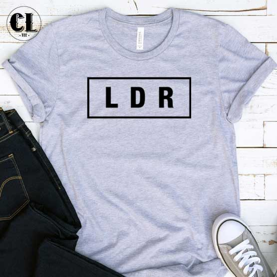 T-Shirt LDR men women round neck tee. Printed and delivered from USA or UK.