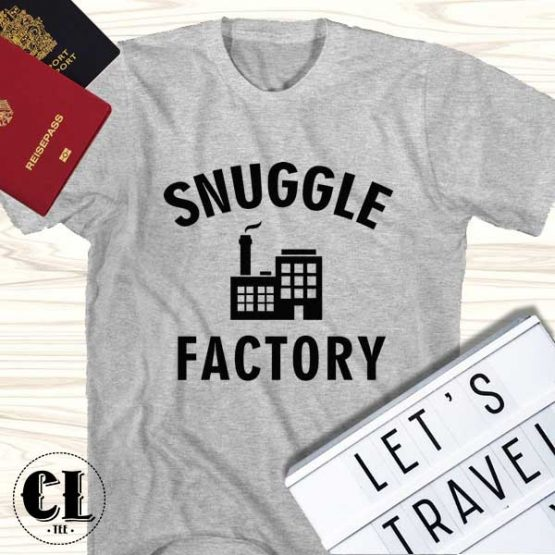 T-Shirt Snuggle Factory men women round neck tee. Printed and delivered from USA or UK.