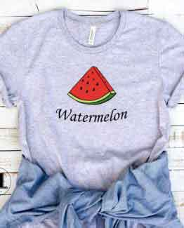 T-Shirt Watermelon Wedges Slice men women round neck tee. Printed and delivered from USA or UK.