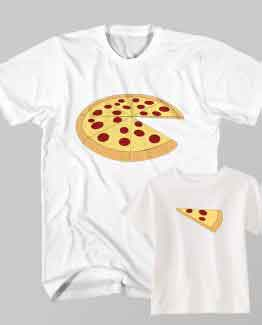 Dad and Son Matching T-Shirt Dad Whole Pizza Son Slice by Clotee.com Father and Son Matching Tee Shirt Set