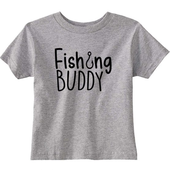 Father and Son Clothing T-Shirt Fishing Dad Fishing Buddy by Clotee.com Father and Son Matching Tee Shirt Set