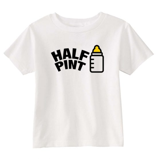 Dad and Son Matching T-Shirt Pint Beer Half Milk by Clotee.com Father and Son Matching Tee Shirt Set