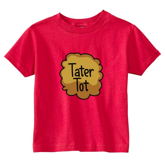 Father and Son T-Shirt Couch Potato Tater Tot by Clotee.com Father and Son Matching Tee Shirt Set